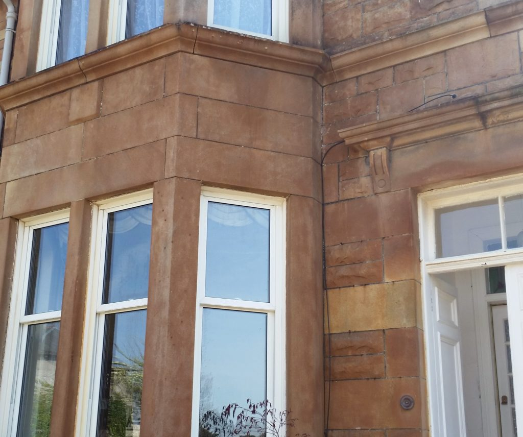 Stone softwashing Glasgow stain removal company