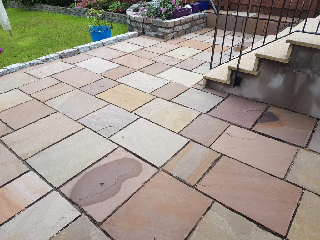 New pointing in patio Glasgow