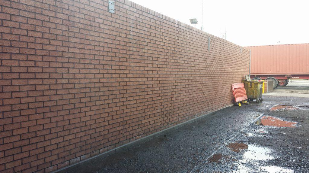 pressure wash brick wall Glasgow